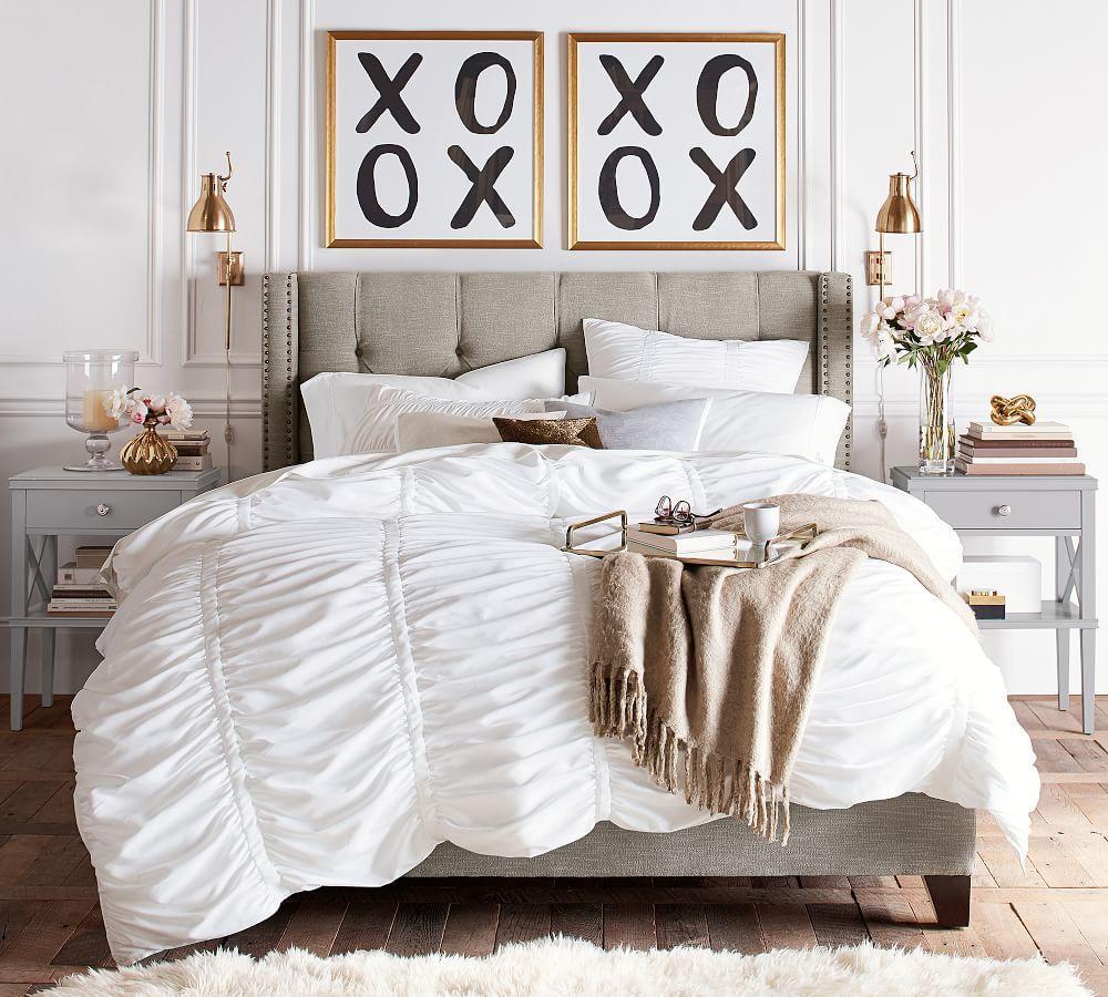 Harper Upholstered Tufted Low Bed