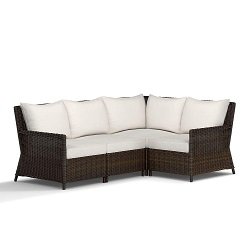 Torrey Patio All-Weather Wicker Sectional Set, Espresso