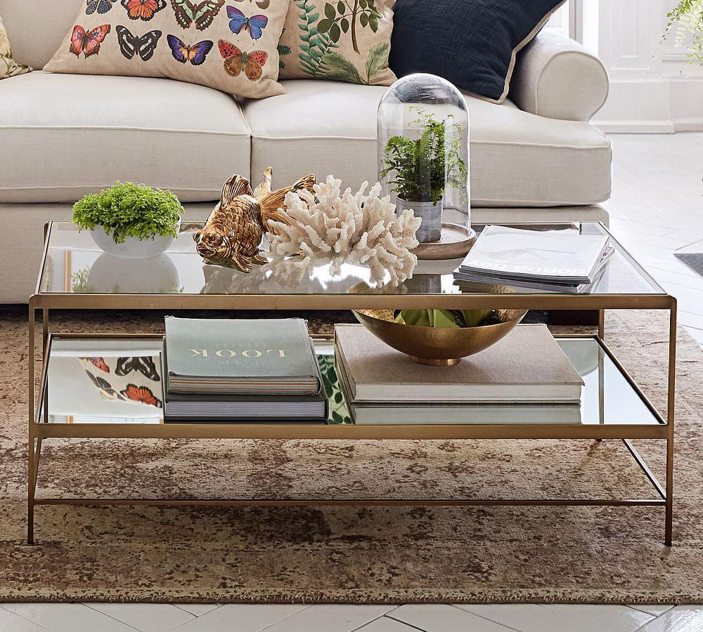leona coffee table - Pottery Barn Glass Coffee Tables