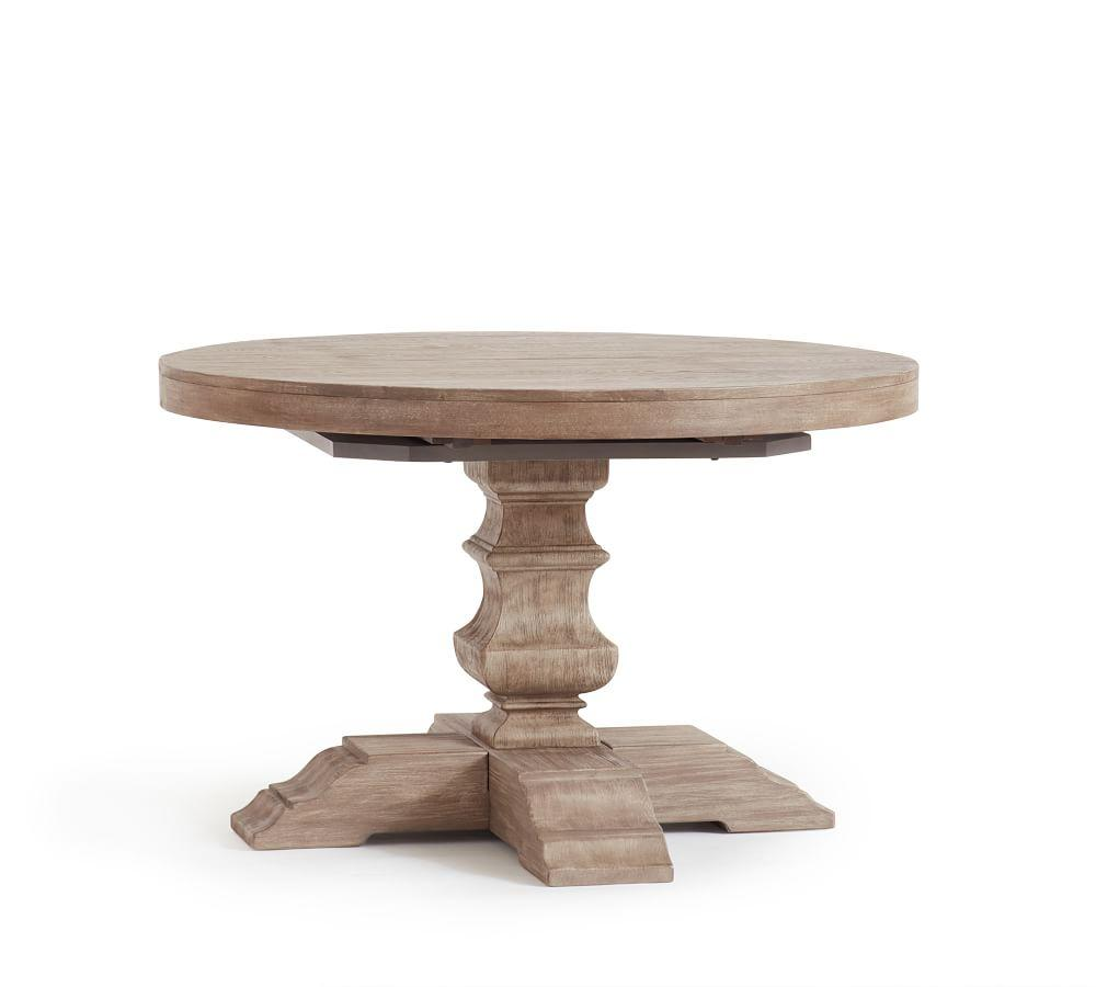 Banks Extending Round Dining Table - Grey Wash