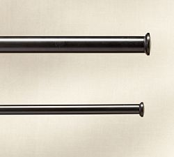 PB Standard Endcap Finial & Curtain Rod - Antique Bronze finish