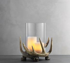 Antler Candle Holders, Large Hurricane