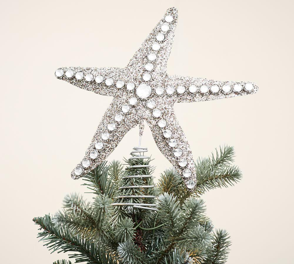 glitter starfish tree topper glitter starfish tree topper