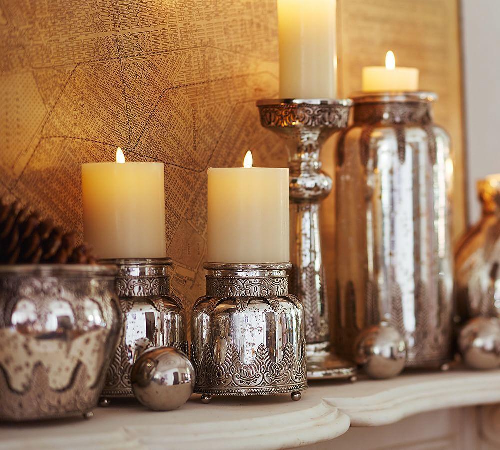 Madeline Mercury and Metal Vases