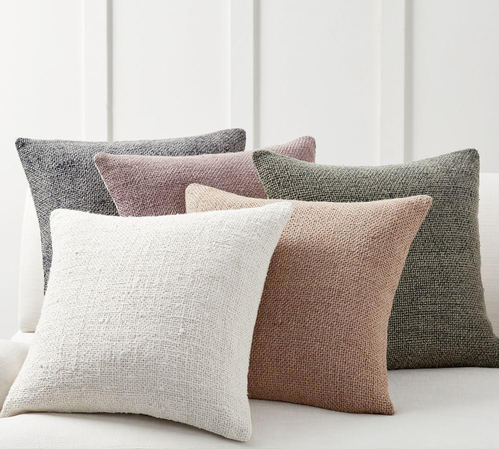 Faye Textured Linen Cushion Cover Pottery Barn Au