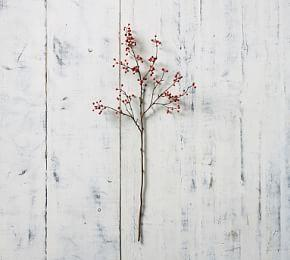 Faux Red Berry Branch