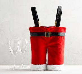 Santa Pants Wine Bag