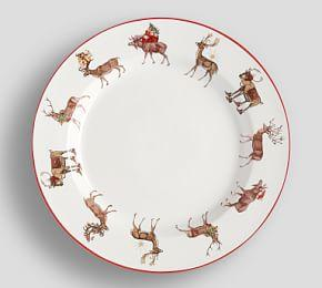 Silly Stag Dinner Plate, Set of 4