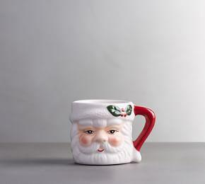 Santa Shot Mug, Set of 4