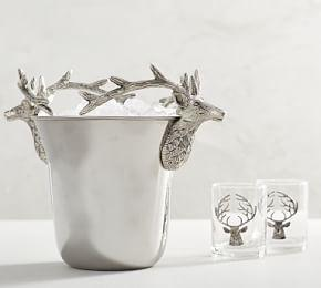 Silver Stag Ice Bucket