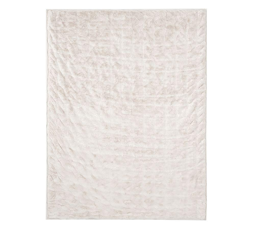 Ruched Faux Fur Throw
