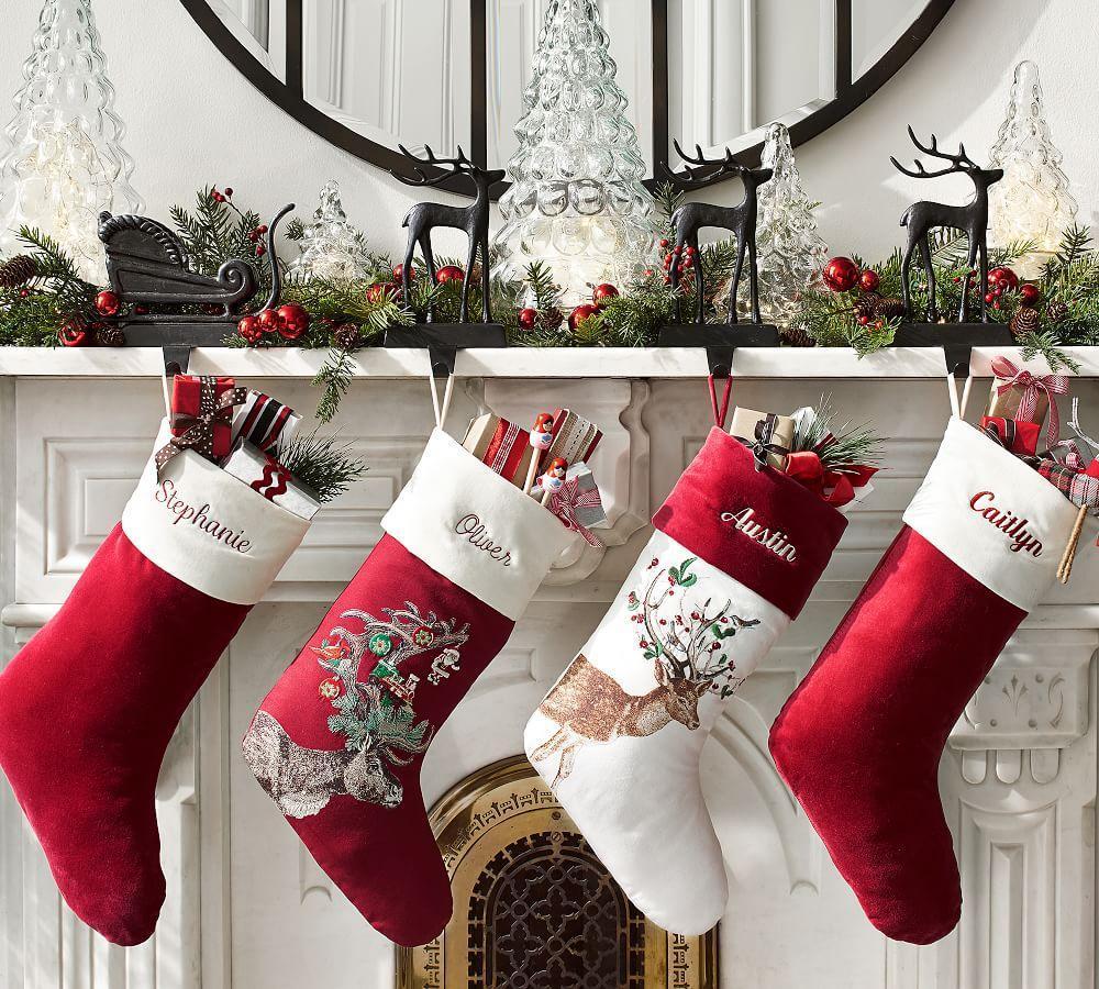 Santa's Sleigh Stocking Holders