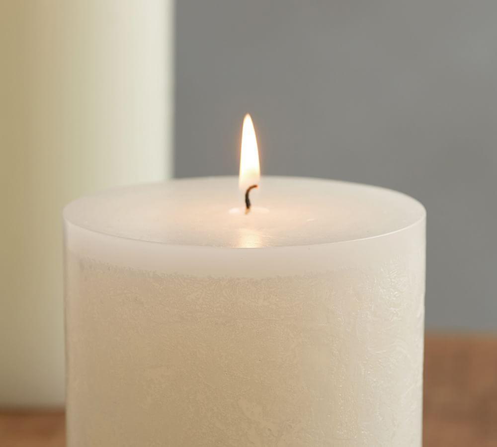 Timber Pillar Candle - Paperwhite
