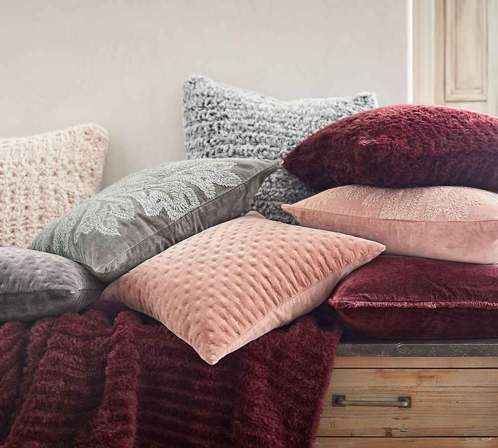 Faux Fur Knitted Cushion Covers