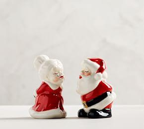 Kissing Clauses Salt & Pepper Shakers
