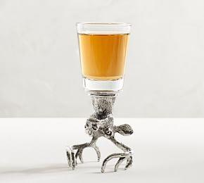 Stag Figural Shot Glass