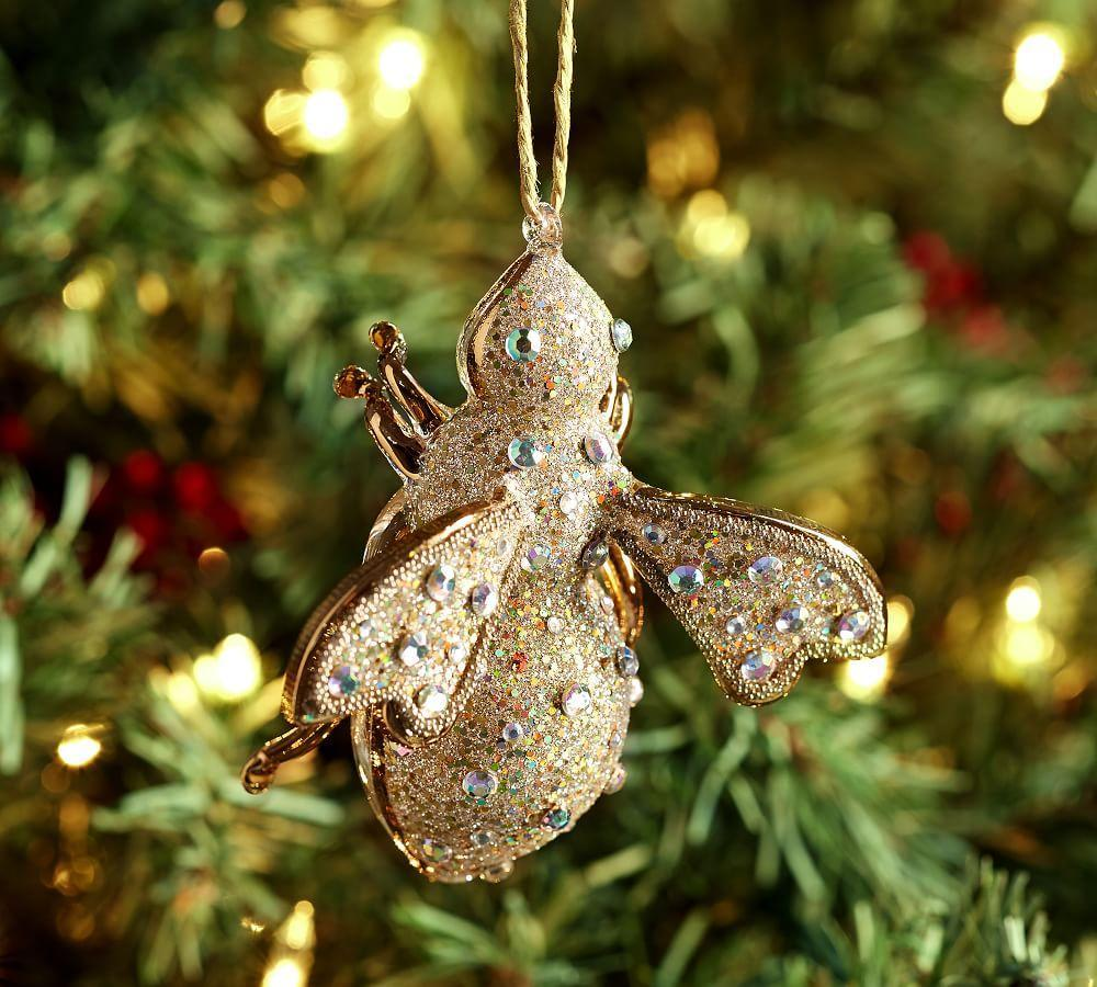 glitter bumble bee ornament