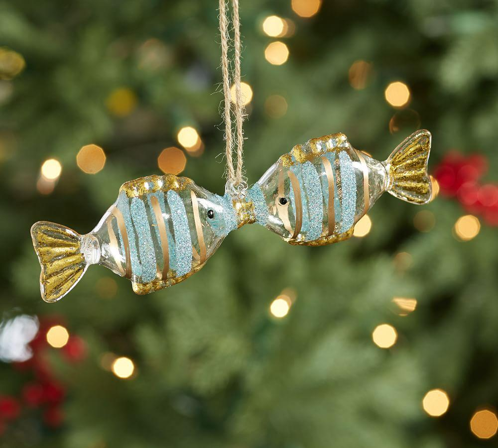 Kissing Fish Ornament | Pottery Barn AU