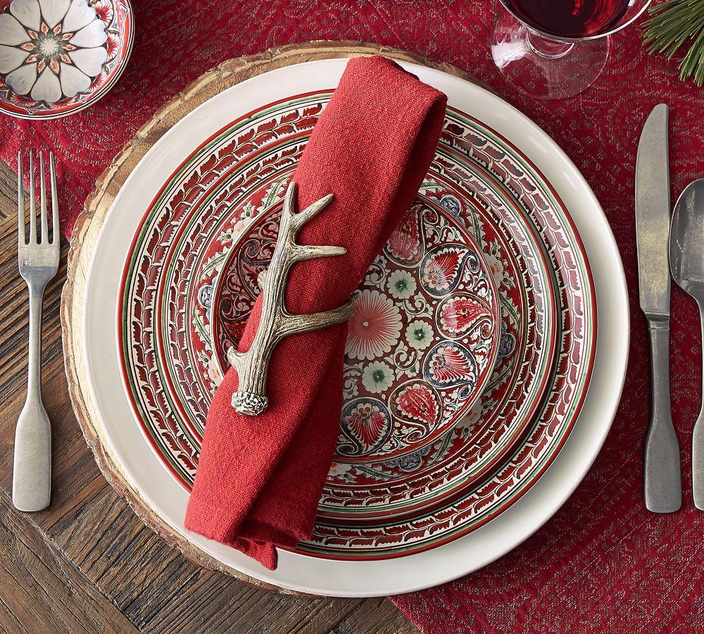 Mezze Dinner Plate - Red