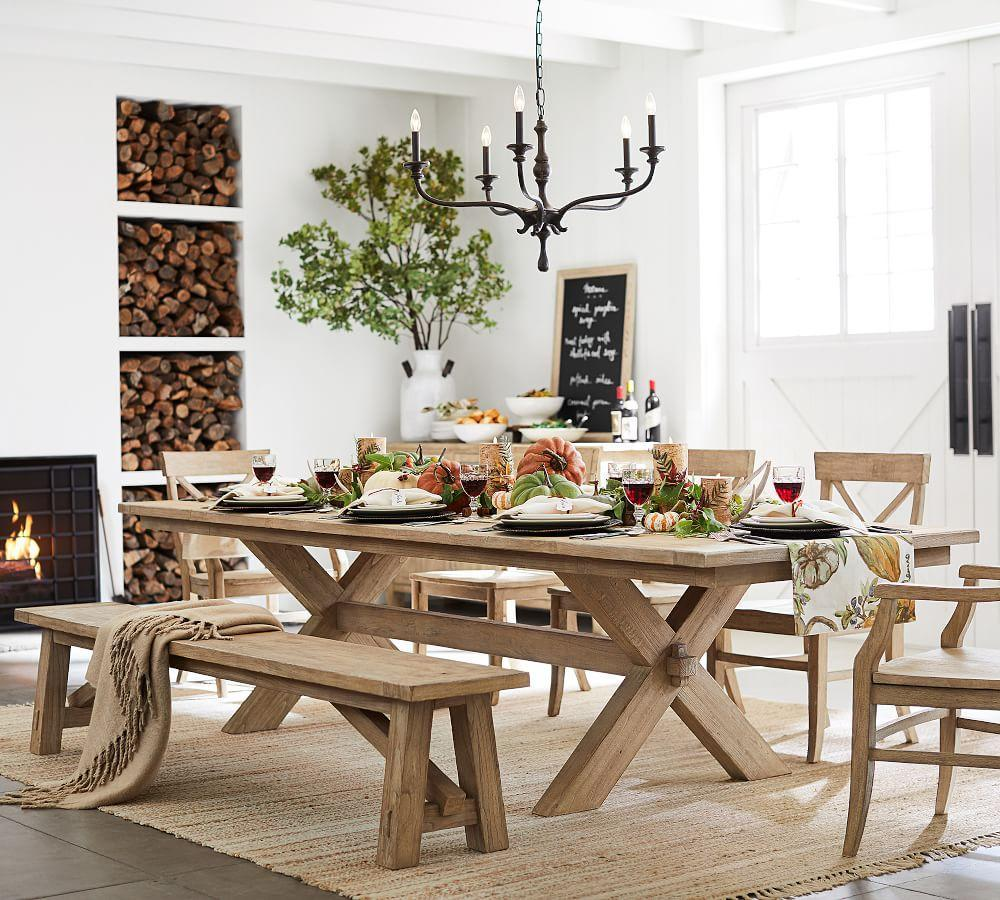 Dining Room Tables: Toscana Extending Dining Table - Seadrift