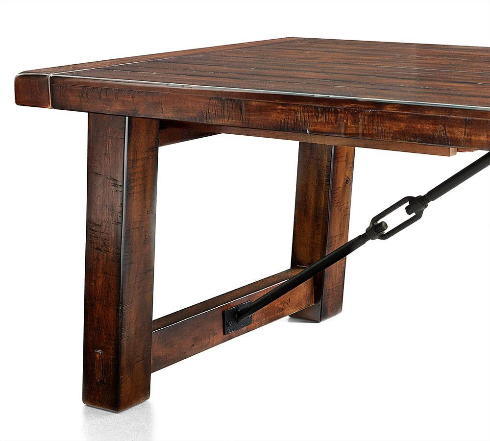 Benchwright Extending Dining Table - Rustic Mahogany