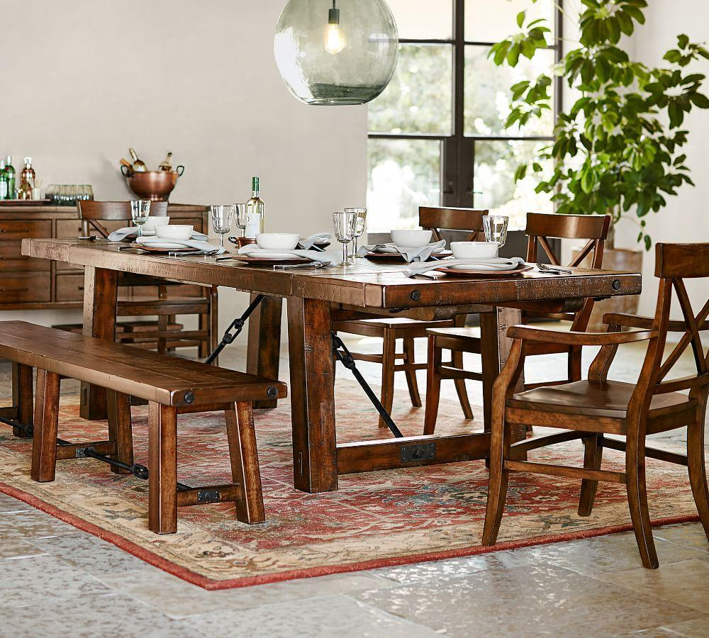 Pottery Barn Wood Furniture Quality: Benchwright Extending Dining Table