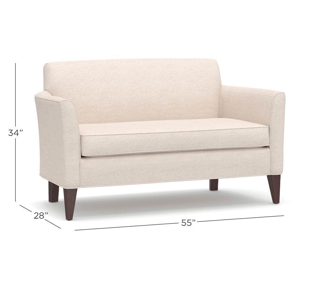 Marcel Upholstered Mini Sofa (140 cm)  Pottery Barn
