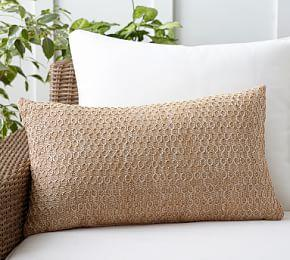 Outdoor Honeycomb Faux Fibre Lumbar Cushion