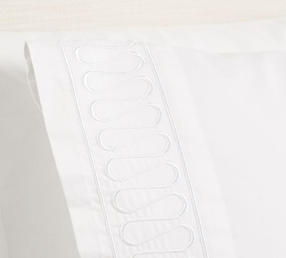 Monique Lhuillier Margaux Embroidered Organic Sheet Set