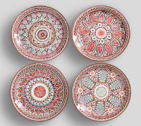 Mezze Salad Plate - Red