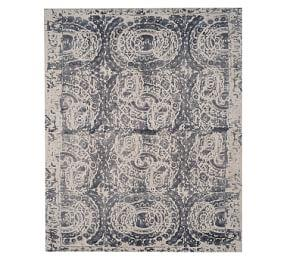 Talia Printed Rug Grey Pottery Barn Au
