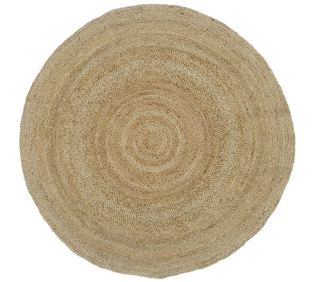 Round Jute Rug - Natural
