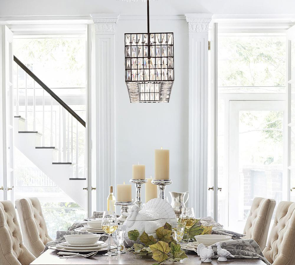 Adeline Crystal Rectangular Chandelier