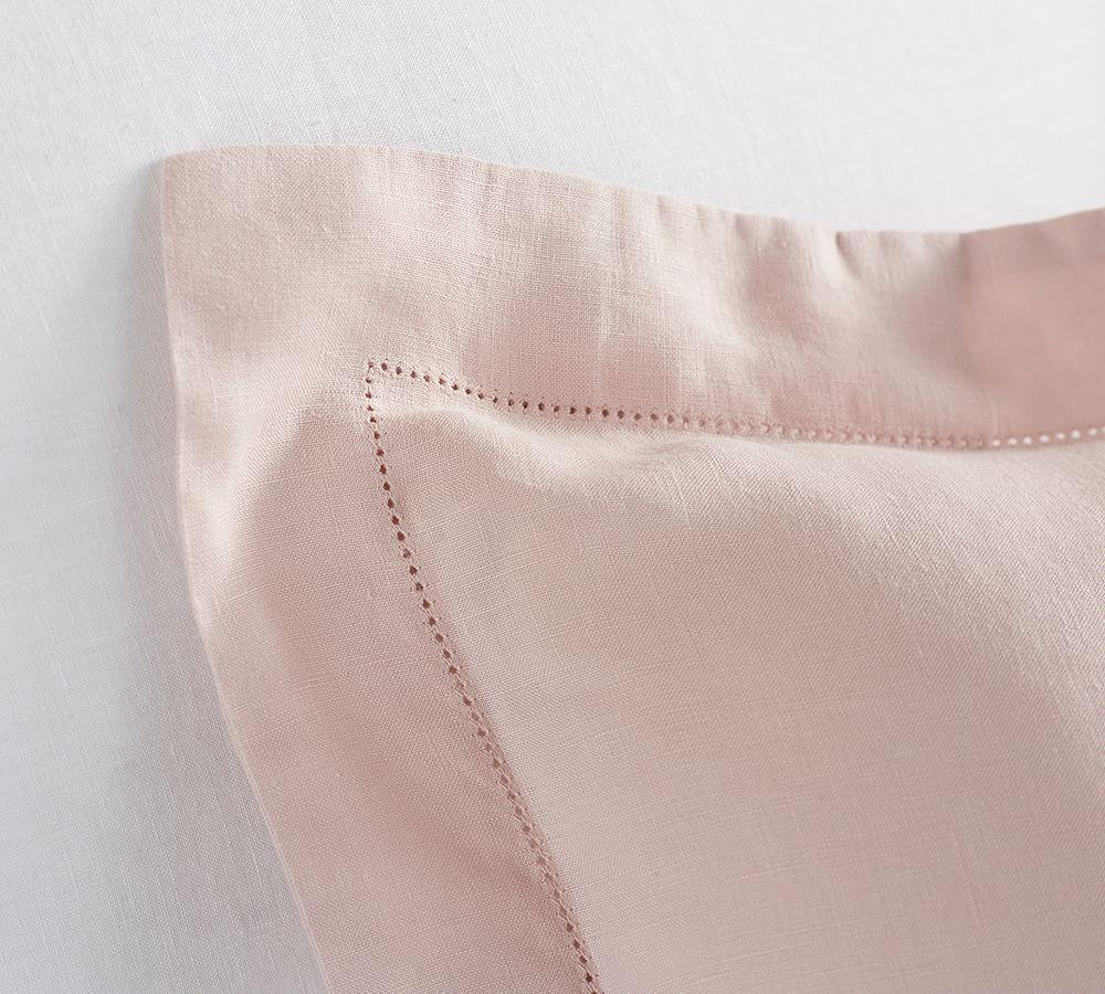 Belgian Flax Linen Quilt Cover & Pillowcases - Soft Rose