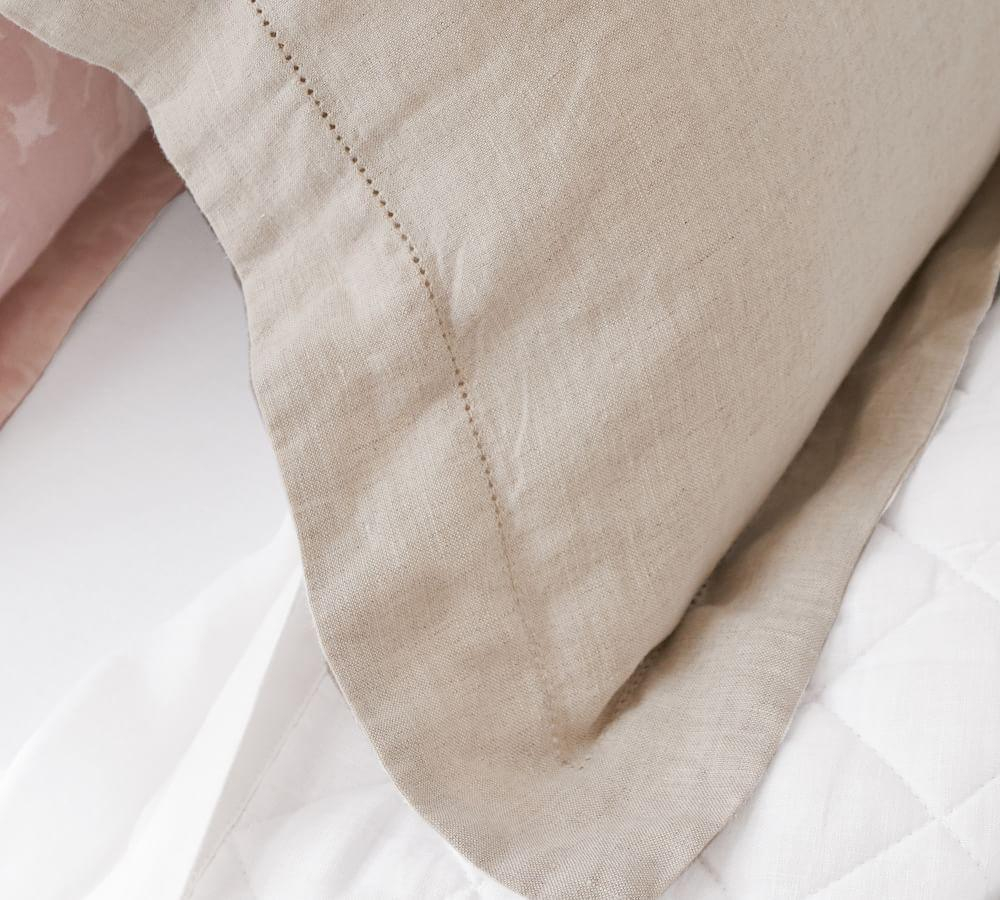 Belgian Flax Linen Quilt Cover & Pillowcases - Natural