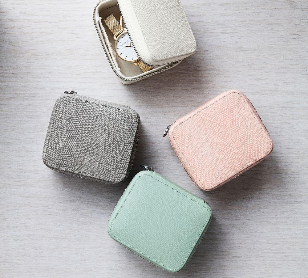 McKenna Leather Small Travel Jewellery Case