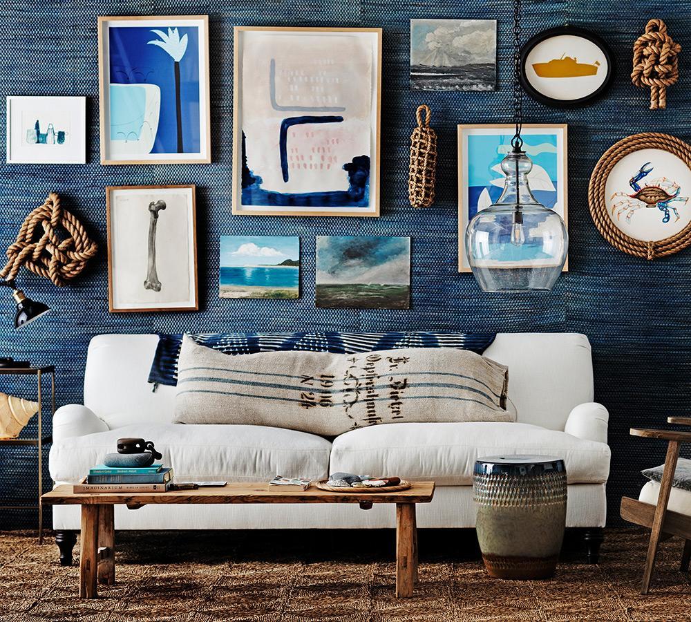 Carlisle Upholstered Grand Sofa - Flax (230 cm)