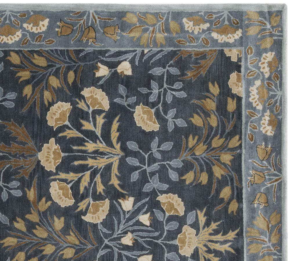 Adeline Tufted Wool Rug - Blue