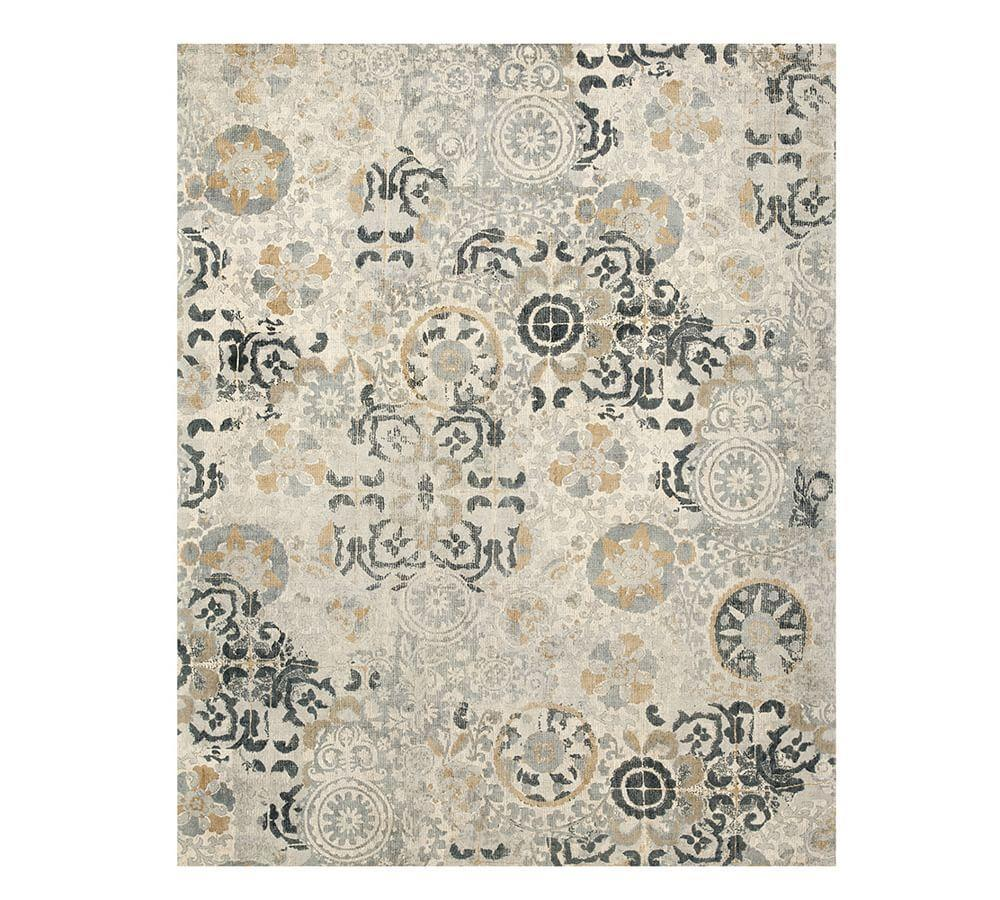 Talia Printed Rug - Grey