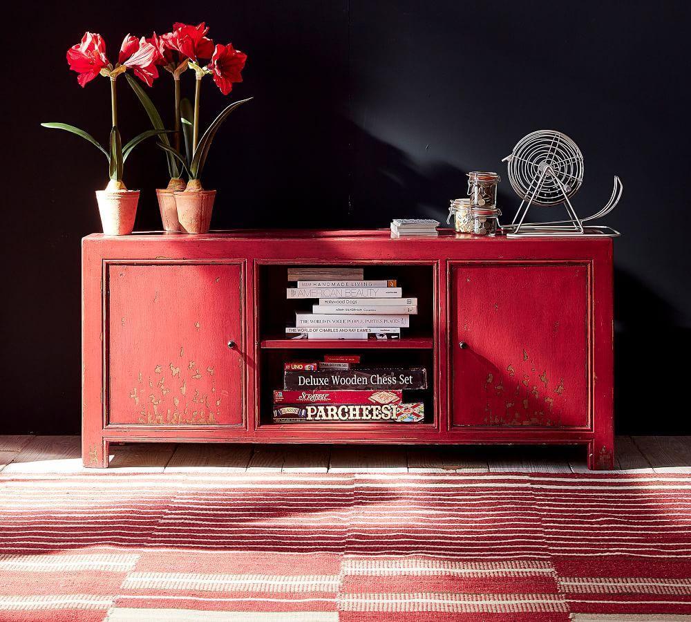 Ellington Flatweave Rug - Red Multi