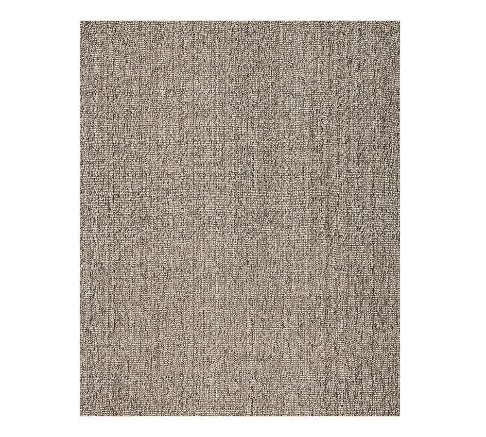 Chunky Wool & Jute Rug - Grey