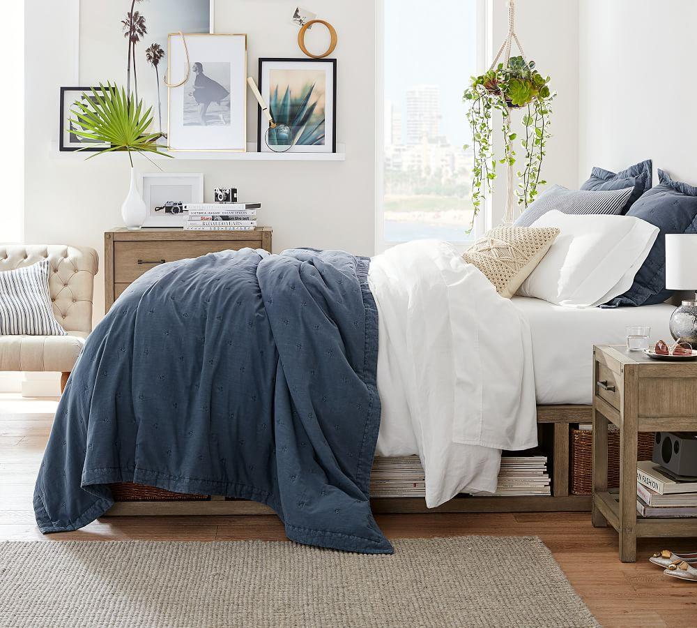 Chunky Wool and Jute Rug - Grey/Ivory
