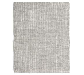 Chunky Wool and Jute Rug - Grey/Ivory