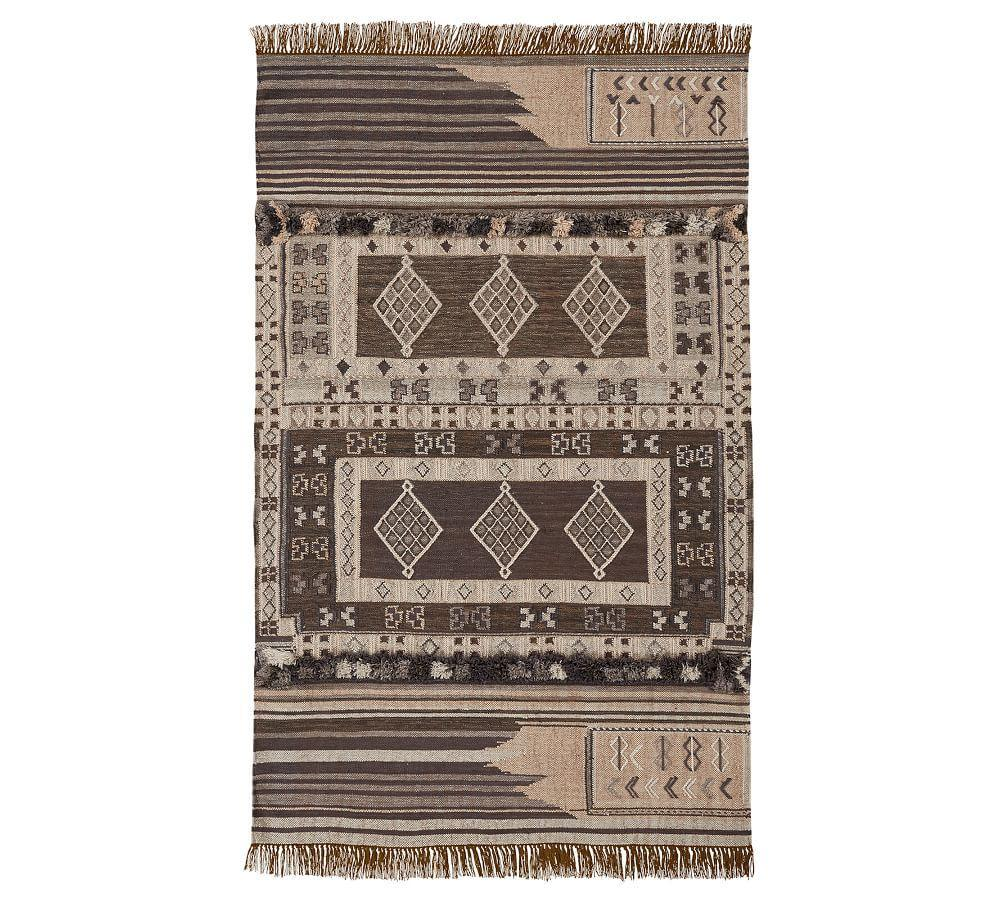 Isaac Synthetic Kilim Rug - Neutral Multi
