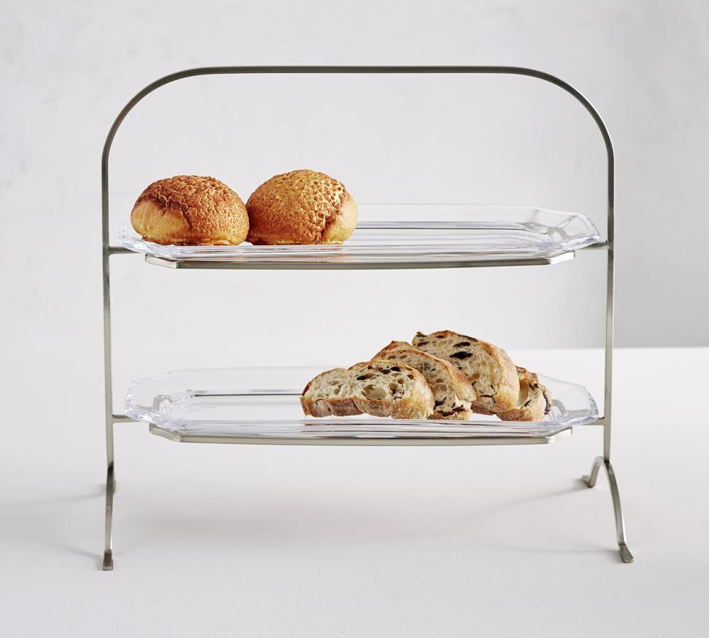 Grace Pressed Glass Tiered Stand