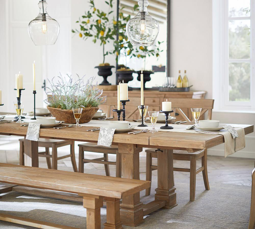 Lucca Reclaimed Wood Extending Dining Table