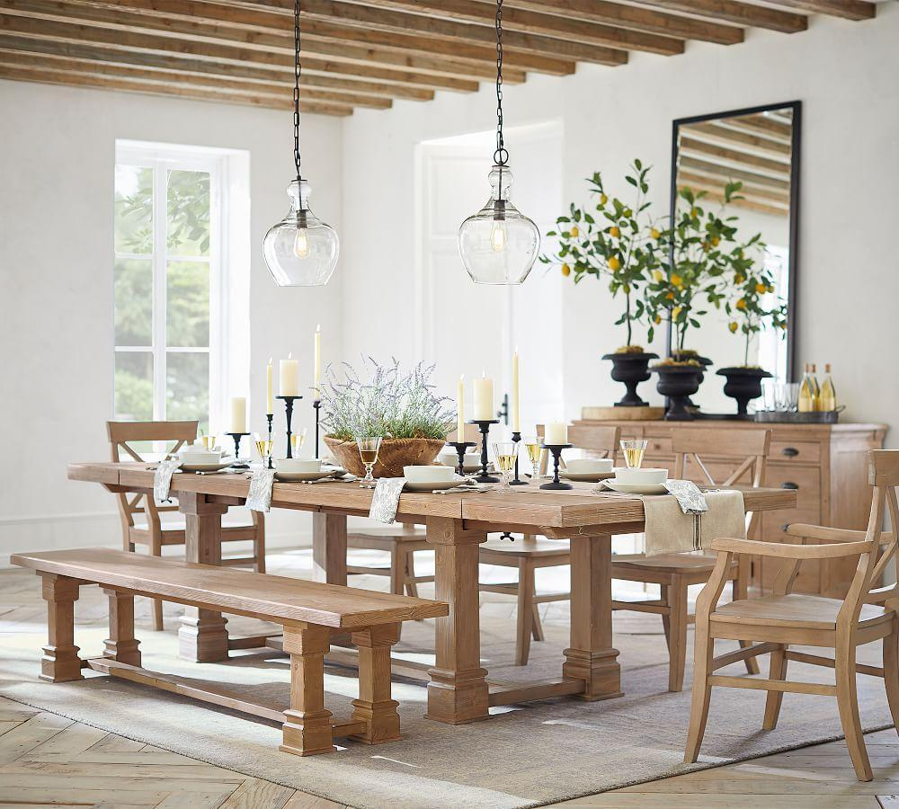 Lucca Reclaimed Wood Extending Dining Table Pottery Barn Au