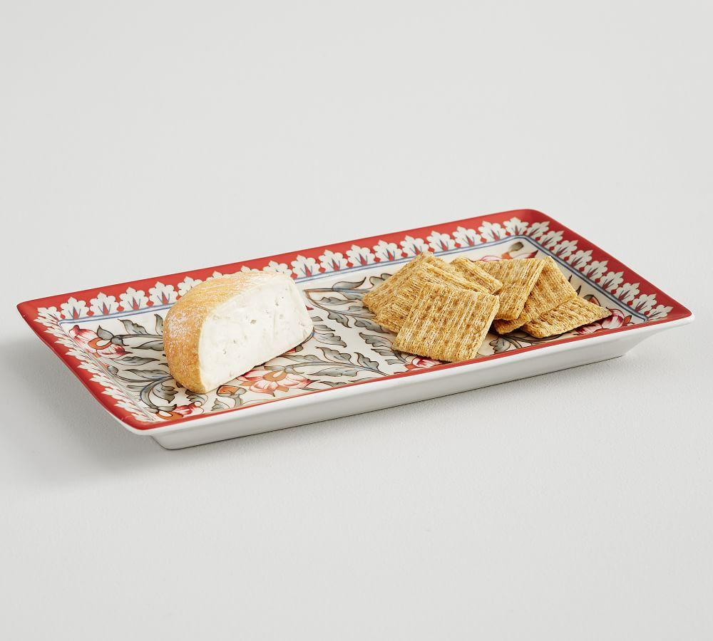 Ava Rectangular Platter - Red