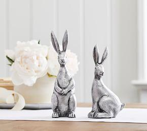 Antique Silver Easter Bunny