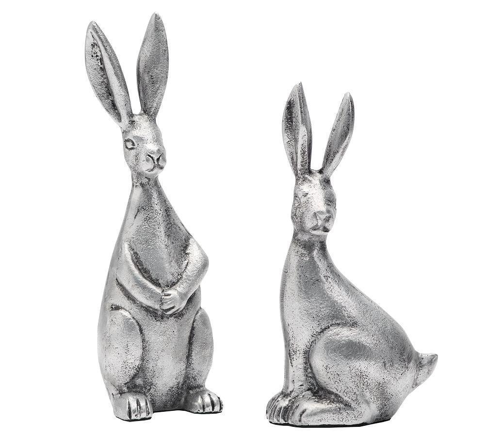 Antique Silver Easter Bunny